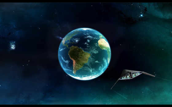earth, space Фон № 24830 разрешение 1680x1050