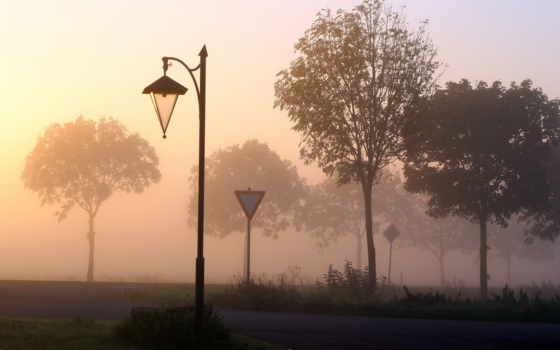 туман, дорога Фон № 32220 разрешение 1920x1080