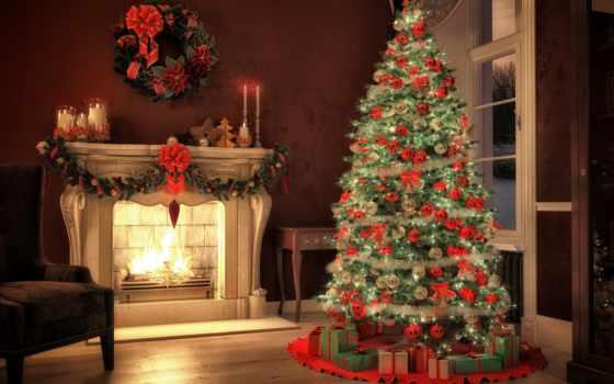 год, new, украшенный, квартира, красивый, ребенок, christmas