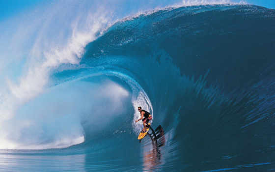 wave, surf, surfing, big, tahiti, таити, teahupoo, доске, под, волной, description, surfer, спорт,