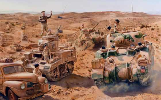 танки, солдаты, танкисты, война, британцы, stuart, sherman,