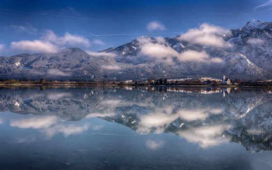 бавария, озеро, альпы