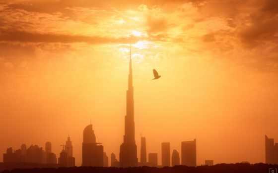 dubai, города, восход, туман, abyss,