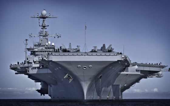 корабль, большой, военный, миро, море, top, современный