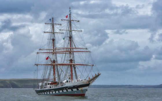 tall, бриг, ships, море, niarchos, sailboat, другая, stavros, корабль, парусники, техника,