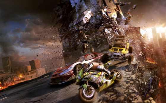 город, апокалипсис, motorstorm, уничтожение, гонщики, race, new,
