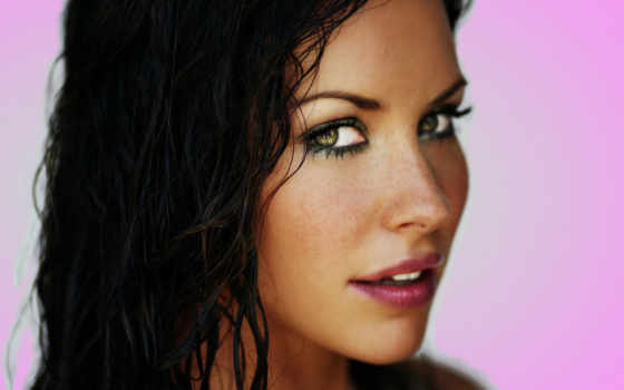 women, актриса, evangeline, lilly, волосы, dark, глаза, desktop,