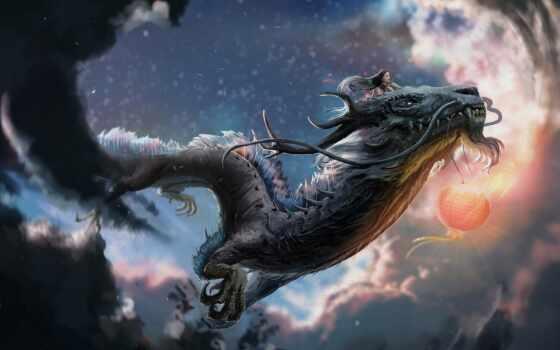 artstation, дракон, facebook, томас, twitter, одинокий, eastern, воин, кладбище, драконий, parisch