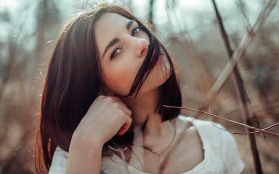 природа, девушка, und, precedente, красивый, id, браун, лицо, pin