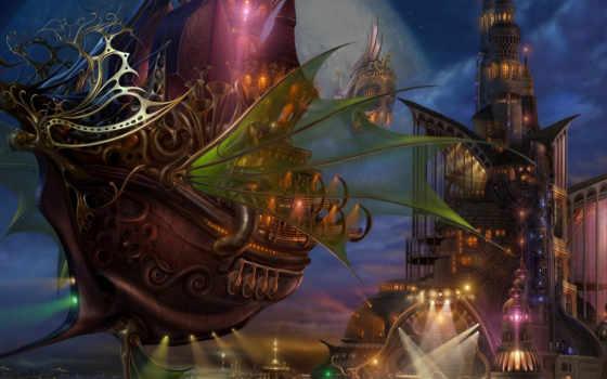 fantasy, корабль