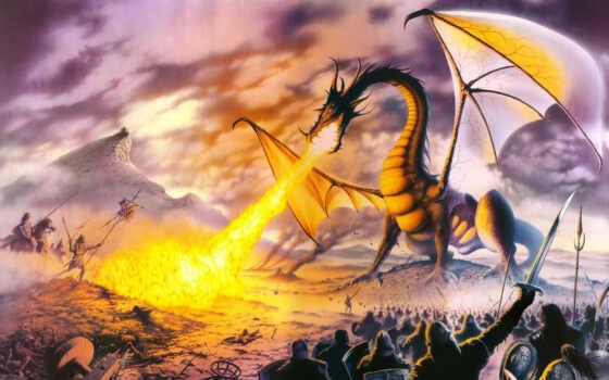 dragon, огонь