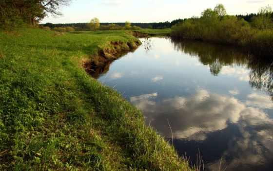 река, прогулка, лес