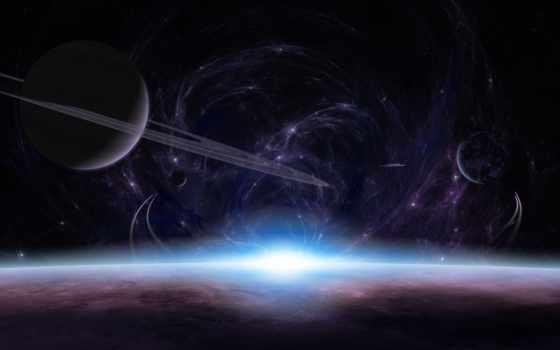 планеты, кольца, качестве, cosmos, свет, гладь, атмосфера, звезды, хорошем, красивые,