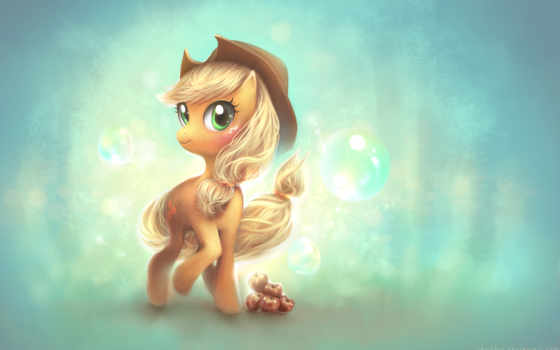 пони, applejack, little