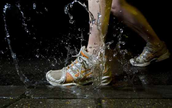 туфли, water, splash, nike, run, running, waterproof, neverwet,