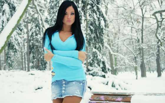 devushki, девушка, зимой, лесу, winter, обоях, картины, бесплатные,