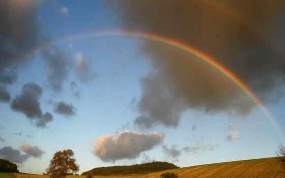 радуга, явление, глядя, хочется, верить, чудеса, strike, небо, издавна, colorful, magnificent
