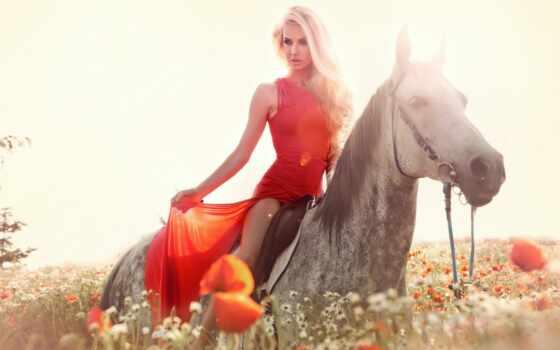 лошадь, stokovyi, платье, девушка, красное, поле, фото, spanish, гитара, rumba, relax