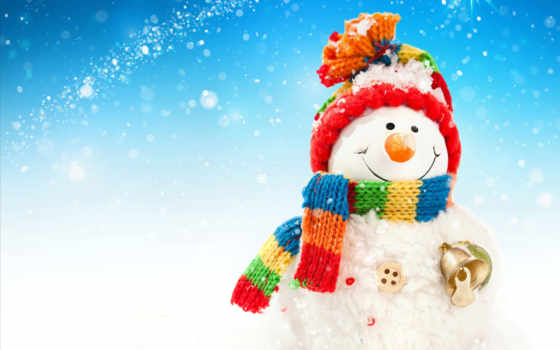 christmas, new, снеговик