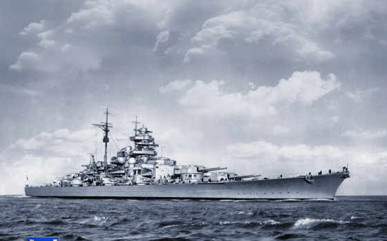 бисмарк, battleship, войны, world, second, кораблей, типа, линкора, линкоры, корабль, тирпиц,