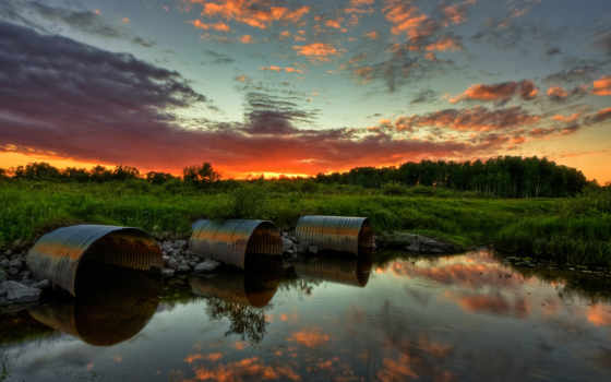 paisajes, природа, трубы,