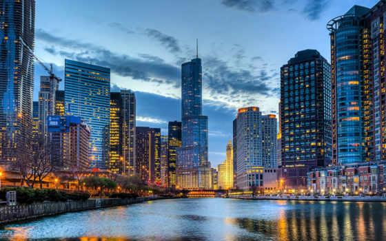 город, иллинойс, usa, города, chicago, изображение, winter,