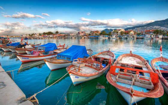 лодка, landscape, док, bay, boats, preview,
