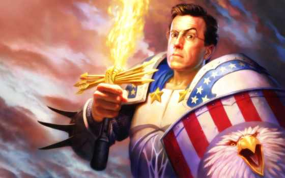 colbert, стивен, america, captain, report, свой, локвуд, американский, тодд,