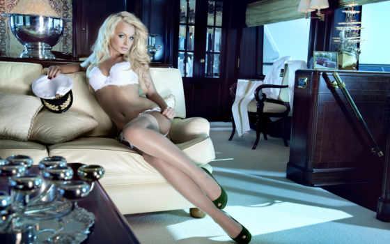 blonde, mandy, lange, тюнинг, kalender, скучать, диван, интерьер,