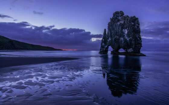 сумерки, вечер, море, добавить, пожаловаться, природа, landscape, побережье