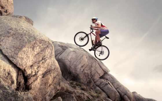 спорт, велосипед, девушка
