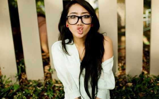 очки, asian, women