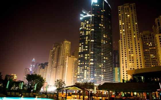 dubai, ночь, borrix, building, здания,
