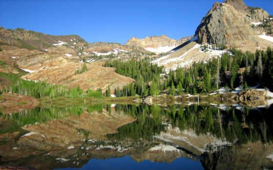 озеро, utah, salt, mountains, trail, природа, город,