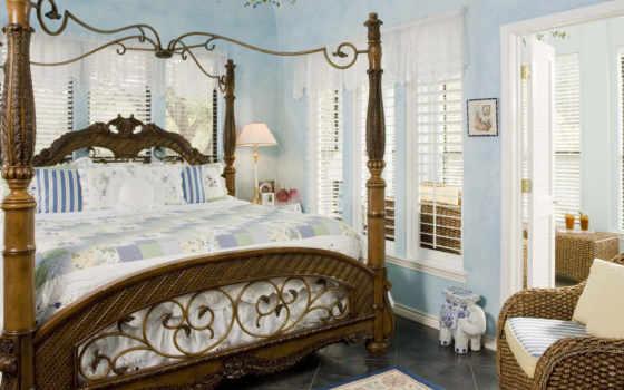 интерьеры, спальни, широкоформатные