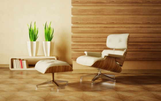 кресла, интерьер, вазы