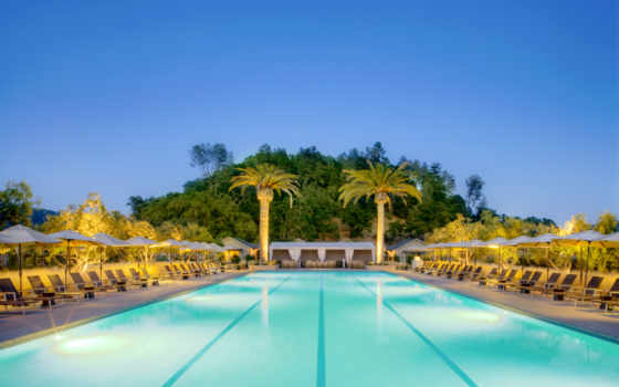пальмы, бассейн, exterior