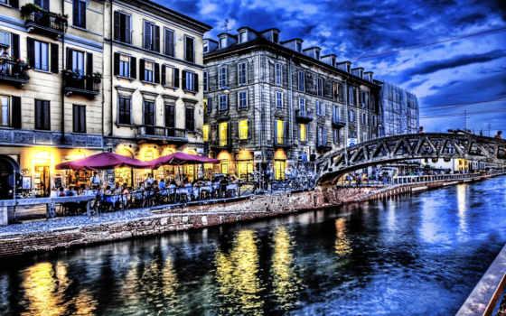 город, река, мост