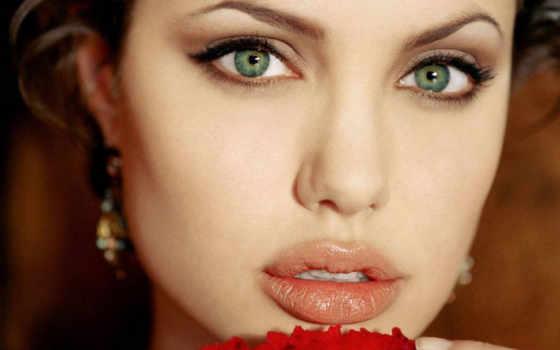 макияж, глаз, зелёных