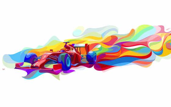ferrari, formula, desktop, widescreen, high, one, art,