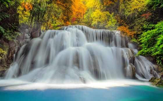 водопад, водопады, природа, картинка, леса, лес, живые, река, камни, каскады,