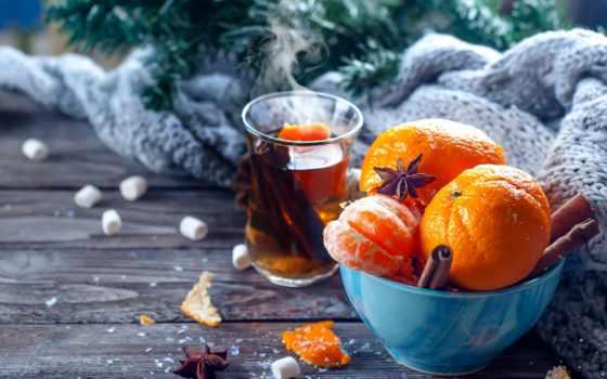 чая, mazurkevich, yuliia, мандарины, год, new, еда, cinnamon, christmas, merry,