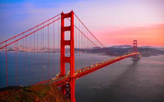 золотистый, мост, gate, золотые, san, francisco, sana,