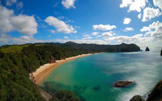 пляж, new, zealand