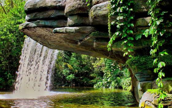 водопад, картинку, совершенно