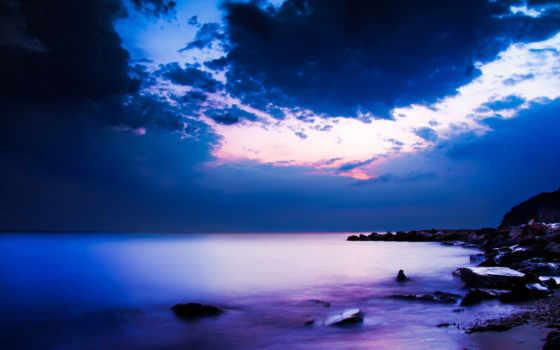 небо, океана, красивые