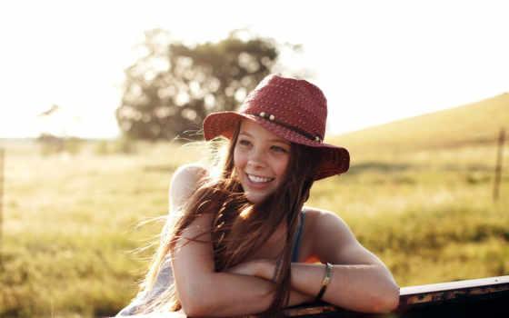 улыбка, девушка, summer