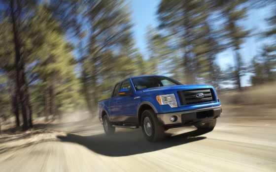 ford, пикап, blue