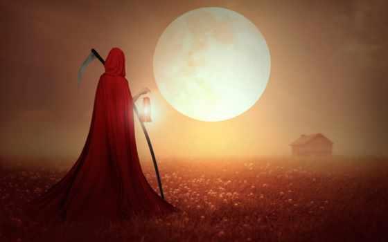 небо, плащ, косичка, смерть, veld, reaper, картинка, high, июнь,