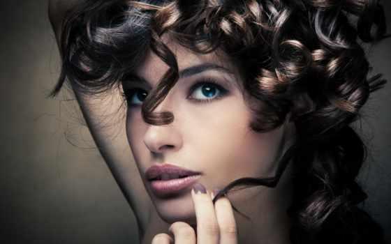 бигуди, девушка, волосы, сделать, devushki, плойки, that, стоковое, women, женщина,